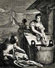 1760-70 Nicolo Cavalli (Italian artist, 1730-1832) La Lavandaja
