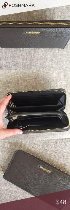 NWT Olivia + Joy zip wallet dark gray Gorgeous and soft. Lots of organization inside. Olivia + Joy Bags Wallets