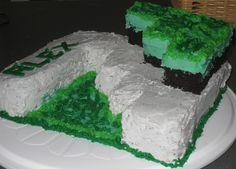 simple minecraft cake
