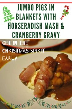 Half term completed and the countdown to Christmas has begun. Well, for the kids at least! In a vain attempt to get me more into the spirit, I decided to do a few Christmas related recipes, that are not a Christmas Dinner. Christmas food that isn't Christmas food! So to start this series off. I have updated the traditional bangers and mash, to festive bangers and mash with pigs in blankets. This took no time to prepare and only 20/25 minutes to cook.