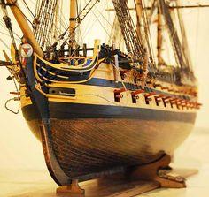 HMS Agamemnon model ship Bow Details