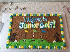 :) Cookie Cake Designs, Cookie Cakes, American Cookie, Birthdays, Desserts, Food, Anniversaries, Tailgate Desserts, Deserts