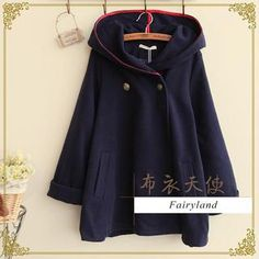 Double-Breasted Hooded Coat from #YesStyle <3 Fairyland YesStyle.com