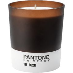 Pantone Scented Candle 19-1020 - Bergamot and Sandalwood - 45hr (€25) ❤ liked on Polyvore featuring home, home decor, candles & candleholders, fillers, candles, other, brown, fragrance candles, brown candles and inspirational home decor