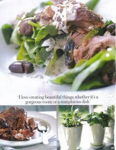 Slow Roasted Lamb Salad with a youghurt dressing....
