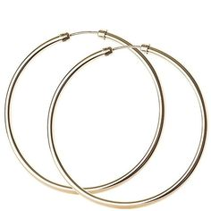 Love Gold 9 Carat Yellow Rolled Gold 45 Mm Capped Tube Hoop Earrings ($28) ❤ liked on Polyvore featuring jewelry, earrings, earring jewelry, gold jewellery, gold filled jewellery, gold jewelry and yellow jewelry