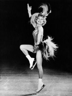 Sonja Henie Performing in Her Own Ice Show, Early 1950s Poster