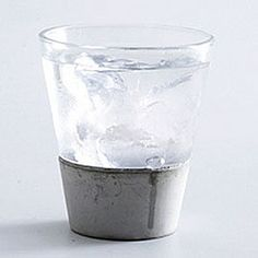 via BKLYN contessa :: concrete + glass tumbler :: from Charles + Marie