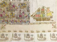 'Galleons', A Group of Ottoman Towels and Embroideries