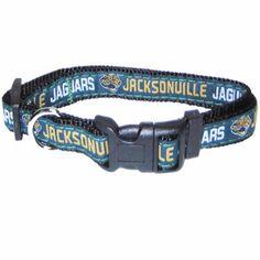 "-""Jacksonville Jaguars NFL Dog Collars"" - BD Luxe Dogs & Supplies"