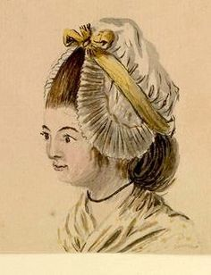 1770s (Gabriey Bray) Head of a woman in a frilled cap, 1770s