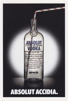 Absolut Accidia - # 322 - Promocard - Italy - # 6.069