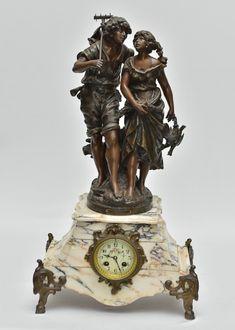 MOREAU, Auguste (França, 1834 - 1917) - Magnífico relógio francês Luis XV de…