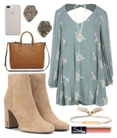"""Young wild and free"" by jadenriley21 on Polyvore featuring Yves Saint Laurent, Free People, Eddie Borgo, NARS Cosmetics, Tory Burch, Kendra Scott and Chloé"