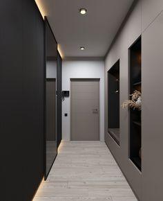 Suit on Behance Craftsman Style Kitchens, Craftsman Decor, Bedroom Door Design, Modern Bedroom Design, Entrance Design, House Entrance, Lobby Interior, Apartment Interior, Condo Living