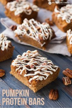 """You may think it's hard to find a healthy pumpkin protein bars recipe but I have a great one for you today. I don't know many people who don't love a good treat! A few of the most popular """"temptations"""" are definitely bread and pastries! Which is why this """"treat"""" (you can actually consider …"""