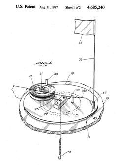 Doing any #icefishing this season? Here's an ice fishing tip up for you to use. US #patent 4,685,240. #wintersport