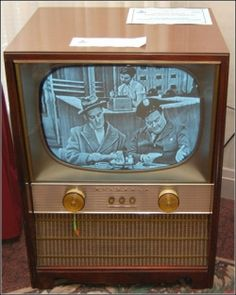 Our black and white TV looked a lot like this one.  It was a Motorola.