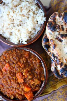 Crockpot Indian Spiced Lentils - 15 Easy & Delicious Vegan Slow Cooker Recipes - ChooseVeg.com