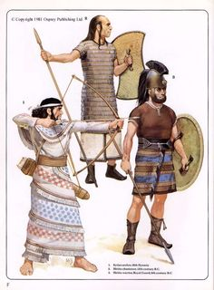 Hittites. 1200 av JC. Illustration par Angus Mc Bride.