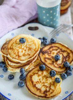 Glutenfria amerikanska pannkakor | Fredriks fika - Allas.se Lchf, Keto, Fika, Pancakes, Brunch, Food And Drink, Gluten Free, Breakfast, Morning Coffee