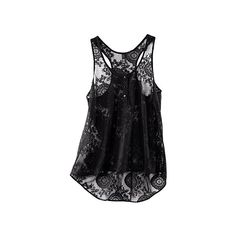 H & M Shop Online ❤ liked on Polyvore featuring tops, shirts, tanks, black, h&m tops, black tank, h&m, black singlet and h&m shirts