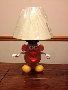 Mr potato head lamp upcycled