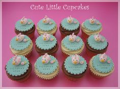 Cute Little Cupcakes Yummy Cupcakes, Party Cupcakes, Mini Cakes, Cupcake Cakes, Hen Party Cakes, Cupcake Recipes, Cupcake Ideas, Bridal Shower Cupcakes, Party Cups