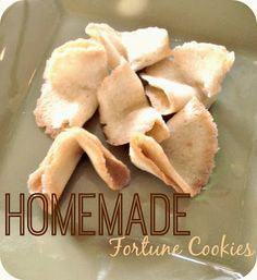 Homemade Fortune Cookies...with a secret message inside! {Chinese New Year Theme} - Blue Skies Ahead