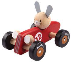 Rabbit Racing Car Träbil - PlanToys - Paddington's Leksaker