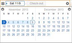Unified calendar #kayak #ux #calendar #ui