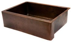 """30"""" Copper Kitchen Apron Single Basin Sink - rustic - kitchen sinks - Lucido Luxe"""