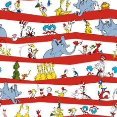Dr Seuss Cuddle - Party Stripe Celebration