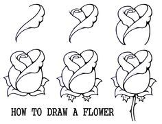 How to Draw A Rosebud | My Nature Book