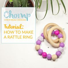 How to make a Rattle Ring with Silicone Beads and Wood Beads