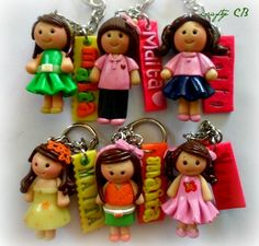 chibis i made. Clay, Personalized Items, Christmas Ornaments, Holiday Decor, Crafts, Design, Clays, Manualidades, Christmas Jewelry