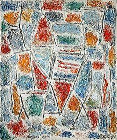 Ernest Mancoba  Composition 1951 Contemporary African Art, Modern Contemporary, Bram Van Velde, Tachisme, South African Art, Art Story, Global Art, Pablo Picasso, Composition