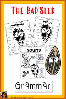 9 Activities with The Bad Seed Grammar Activities Grammar Activities, Teaching Grammar, Reading Activities, Guided Reading Table, Reading Stations, Robin Wilson, Text To World, Text To Text Connections, Text To Self