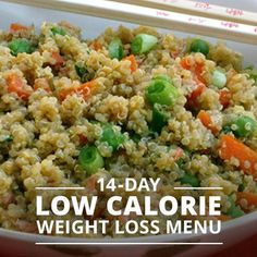 14 Day Low-Calorie Weight Loss Menu!