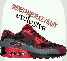 Nike air max 90 essential - team red/black/university red/dark grey