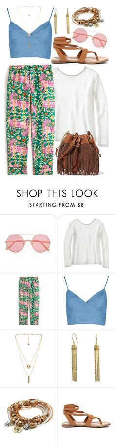 """""""Untitled #132"""" by random-phoebe ❤ liked on Polyvore featuring Sunday Somewhere, TravelSmith, Drakes London, House of Harlow 1960, Bling Jewelry, Lizzy James, Breckelle's, Diane Von Furstenberg, Spring and cute"""