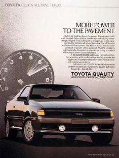 1989 Toyota Celica Ad