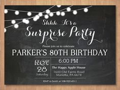 Hey, I found this really awesome Etsy listing at https://www.etsy.com/listing/260863622/surprise-80th-birthday-invitation