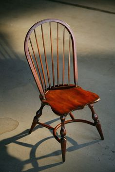 My Dining Chairs English Windsor Chair In Brown Cherry Finish