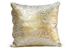 Style Fusion | One Kings Lane-$189-$279-Baby Zebra Hide Pillow