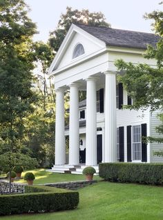 """""""Gil Schaefer's self-designed home, Middlefield. The operable lunette in the pediment is a window to his third floor home studio. The depth in the entablature gives the impression of a strong of a strong Doric facade, while also allowing for a full height third floor. This is what makes good Architecture. """" -Cville to Chucktown"""