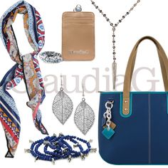 LOOK 11, Blue and Tan - ClaudiaG Collection