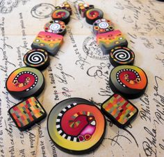 Polymer Clay Beads by TLS Clay Design by TLSClayDesign on Etsy, $21.99