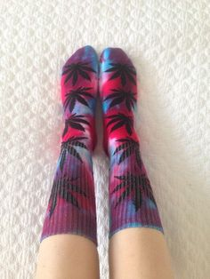 Custom tiedye Huf socks by dankndazed on Etsy