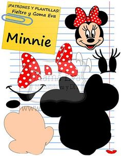 Disney Minnie Mouse Head Iron On T Shirt / Pillowcase Fabric Transfer 20 Felt Crafts, Diy And Crafts, Crafts For Kids, Paper Crafts, Minnie Y Mickey Mouse, Mickey Mouse Birthday, Felt Patterns, Applique Patterns, Felt Christmas Ornaments